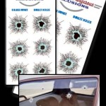 glass bullet hole stickers